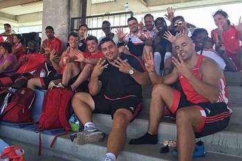 Atletas do Benfica celebram o título de Hexacampeão ao Ar Livre