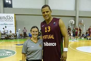 Sónia Teixeira com Elvis Évora