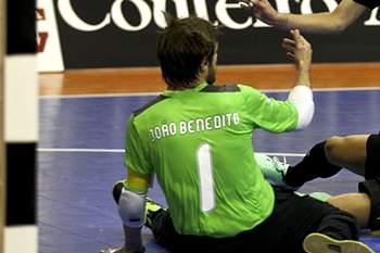 Guarda-redes do futsal do Sporting.