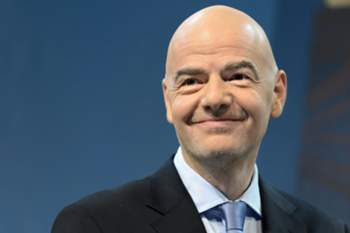 epa05456285 (FILE)A file photograph dated 14 December 2015 shows FIFA president Gianni Infantino during the draw of the 2015/16 UEFA Champions League Round of 16 at the UEFA Headquarters in Nyon, Switzerland. FIFA's ethics committee has cleared Infantino of alleged misconduct relating to use of private flights. FIFA ethics prosecutors say their decision to end a formal investigation into alleged conflicts of interest and improperly accepting gifts was supported by FIFA ethics judges. EPA/LAURENT GILLIERON DATABASE