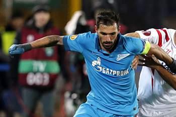 Danny em ação pelo Zenit contra o Sevilha na Liga Europa