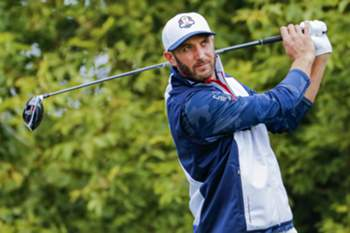 epa05804893 (FILE) - A file photograph showing Team USA's Dustin Johnson hitting from the tenth tee during practice for the 2016 Ryder Cup at Hazeltine National Golf Club in Chaska, Minnesota, USA, 28 September 2016. Media reports on 20 February 2017 state that Dustin Johnson became world number one for the first time with victory on 19 February 2017 in the Genesis Open held at Riviera Country Club in Pacific Palisades, California, USA. EPA/ERIK S. LESSER *** Local Caption *** 53040354