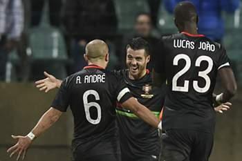 O médio português marcou ao Luxemburgo