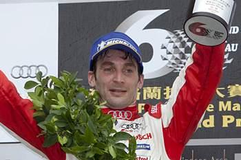 O piloto português, André Couto a correr em Audi R8 LMS, classificou-se em 2ºlugar hoje na corrida Audi R8 LMS CUP, prova integrada no 60º Grande Prémio de Macau. 10 de Novembro de 2013, Macau. CARMO CORREIA/LUSA