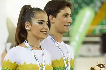 Mariana e José Souto conquistam bronze na patinagem artística