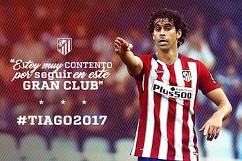 Tiago renova com Atlético Madrid