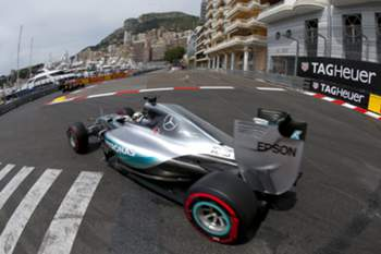epa04763215 British Formula One driver Lewis Hamilton of Mercedes AMG GP in action during the third practice session of the Monaco Formula One Grand Prix at the Monte Carlo circuit in Monaco, 23 May 2015. The 2015 Formula One Grand Prix of Monaco will take place on 24 May 2015. EPA/VALDRIN XHEMAJ
