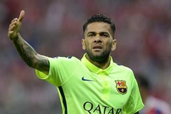 Dani Alves representou o Barcelona durante oito épocas