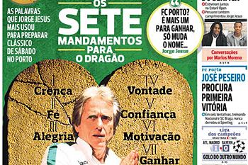 Jornal A Bola 28 de abril de 2016
