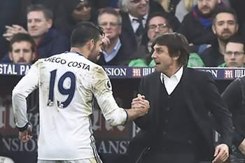 Diego Costa e Antonio Conte