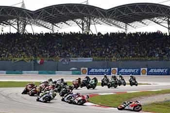 Prova de MotoGP no Circuito de Sepang em 2014 .