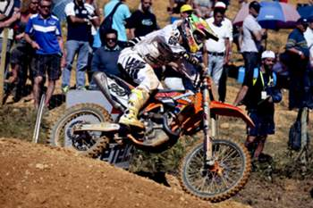 Portuguese Rui Gonçalves in action during the MX1 race 2 of the Motocross MX1 Grand Prix of Portugal in Agueda, Portugal, 5 May 2013. Gonçalves takes 11th place on race 2. PAULO NOVAIS / LUSA