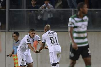 Soares celebra o golo do empate diante do Sporting.