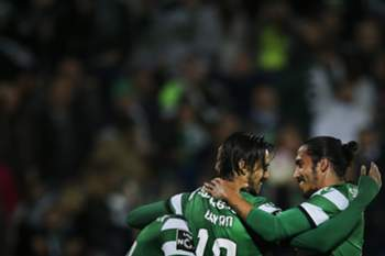 Sporting festeja golo no Estoril
