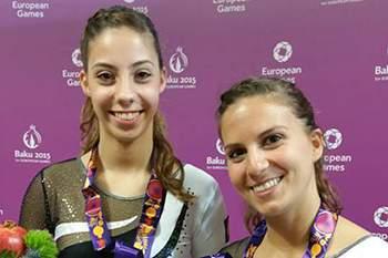 Beatriz Martins e Ana Rente bronze nos trampolins sincronizados.