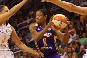 Alana Beard em ação ao serviço dos Los Angeles Sparks