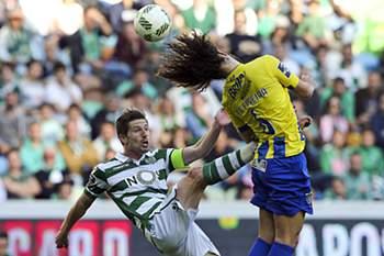 Tiago Ferreira, durante um Sporting - União da Madeira