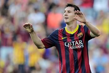 Messi marca três na goleada do Barcelona ao Sevilha