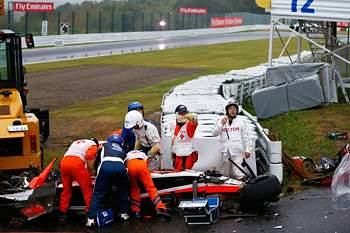 Acidente de Biachi no GP do Japão