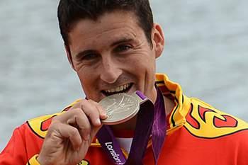 David Cal com a medalha de prata nos Jogos Olímpicos 2012.