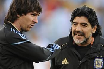 Maradona foi selecionador da Argentina entre 2008 e 2010.