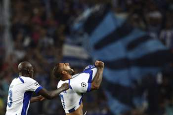 Ricardo Quaresma (R), celebrates a goal against Athletic Bilbao during the UEFA Champions League Group H soccer match held at Dragao Stadium in Porto, Portugal. 21 October 2014.