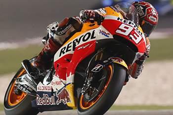 Piloto espanhol segue na perseguição de Rossi.