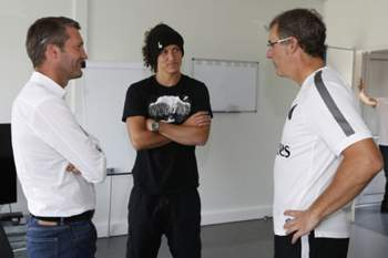 David Luiz com Laurent Blanc