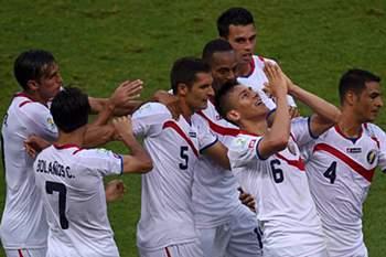 A seleção da Costa Rica protagonizou a primeira grande surpresa do Mundial