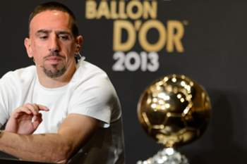 Ballon d'Or nominee, Bayern Munich's French midfielder Franck Ribery gives a press conference ahead of the Ballon d'Or award ceremony, on January 13, 2014 at the Kongresshaus in Zurich. AFP PHOTO / FABRICE COFFRINI