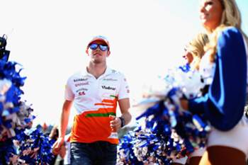 AUSTIN, TX - NOVEMBER 17: Paul di Resta of Great Britain and Force India attends the drivers parade before the United States Formula One Grand Prix at Circuit of The Americas on November 17, 2013 in Austin, United States. Paul Gilham/Getty Images/AFP