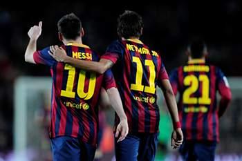 Messi e Neymar no Barcelona