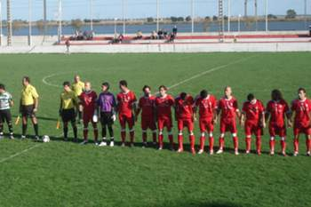 O Vilafranquense antes de um jogo contra o Sporting de Lourel.