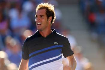 NEW YORK, NY - SEPTEMBER 04: Richard Gasquet of France looks on during his men's singles quarter-final match against David Ferrer of Spain on Day Ten of the 2013 US Open at USTA Billie Jean King National Tennis Center on September 4, 2013 in the Flushing neighborhood of the Queens borough of New York City. Elsa/Getty Images/AFP