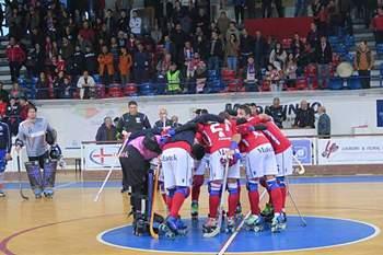 Equipa de hóquei em patins da UD Oliveirense.