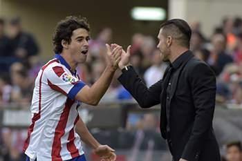 Médio português marcou na vitória do Atlético Madrid sobre o Málaga.