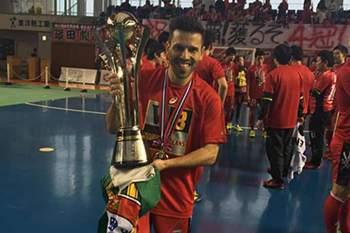 O internacional português conquistou o seu quarto campeonato de futsal no Japão.