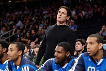 O proprietário dos Dallas Mavericks Mark Cuba