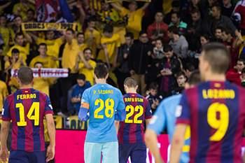 Equipa de futsal do Barcelona.