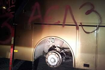 Autocarro do Anarthosis foi vandalizado