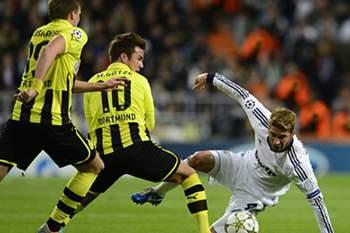 Real Madrid e Borussia Dortmund já mediram forças nesta Champions
