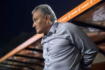 Brazil's Corinthians team coach Tite is seen during the 2013 Copa Libertadores football match against Argentina's Boca Juniors held at Pacaembu stadium, in Sao Paulo, Brazil, on May 15, 2013.