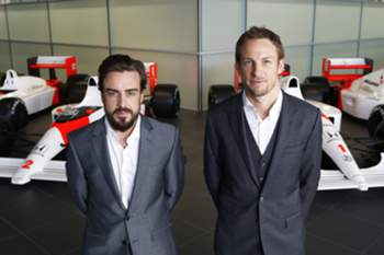 Fernando Alonso e Jenson Button