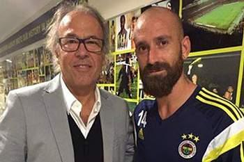 Treinador e jogador encontraram-se na Turquia.