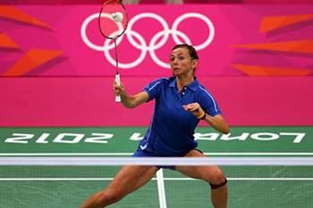 Londres2012:Badminton: Telma Santos