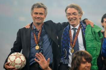 mourinho e Massimo Moratti