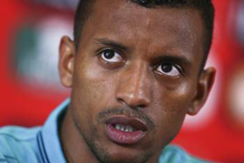 epa04485183 Portugal National Team player Nani during a press conference concerning the upcoming Euro 2016 Group I qualifying match against Armenia, at Vale do Garrao, southern Portugal, 11 November 2014. EPA/JOSE SENA GOULAO