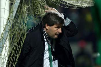 Sporting's president Bruno de Carvalho during their Portugal Cup soccer match against Sporting de Espinho held at Marcolino de Castro Stadium, in Santa Maria da Feira, Portugal, 21 november 2014. ESTELA SILVA/LUSA