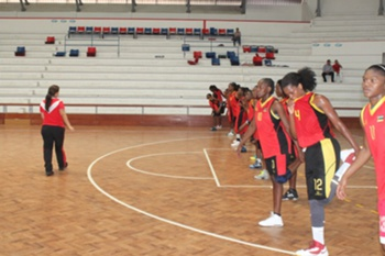 Afrobasket feminino: Treino de Moçambique