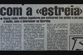 """Duílio: """"Deixei a minha marca no futebol português"""""""